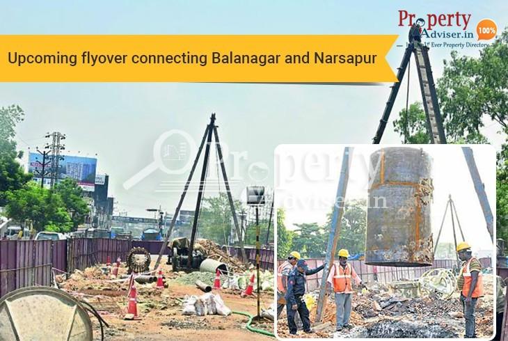 Under Construction Flyover from Balanagar to Narsapur