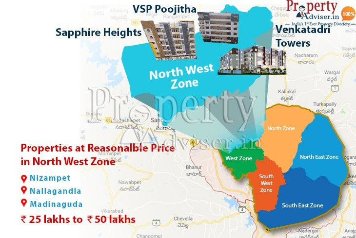 Residential Projects in Hyderabad North West zone at reasonable price