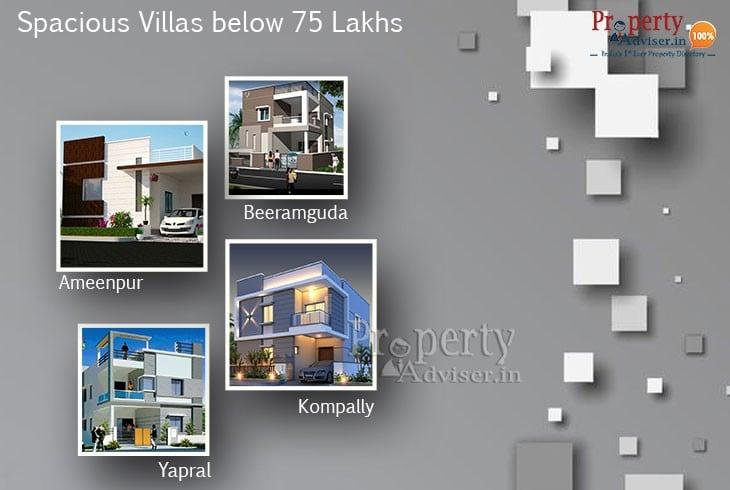 Luxury Villas in Hyderabad Below 75 Lakhs