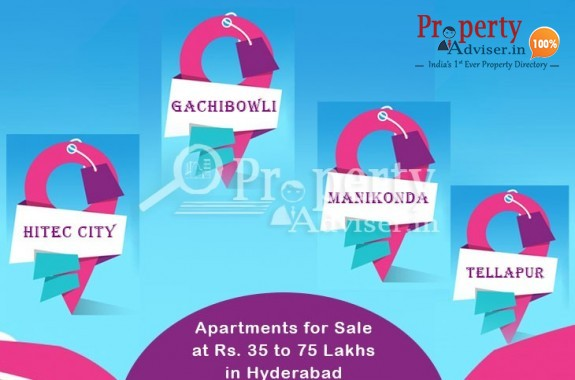 Properties for Sale at Rs. 35 to 75 lakhs in Prominent Areas of Hyderabad