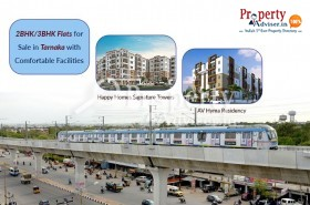 2/3 BHK apartments for sale in Tarnaka