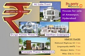 35 lakhs to 75 lakhs houses for sale at Ameenpur, Hyderabad