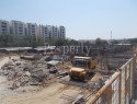 Construction site Footing work view 1