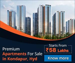 Apartments in kondapur